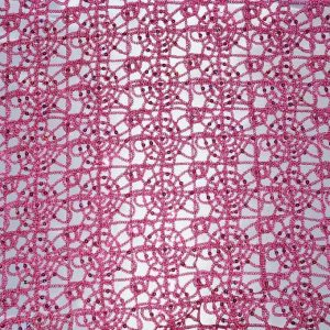Chain Fabric Fuchsia