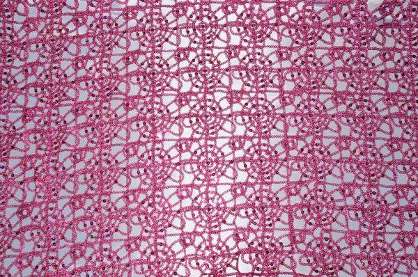 Chain Fabric Fuchsia