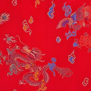 Chinese Jacquard Dragon red