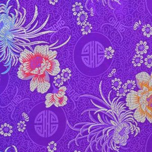 Chinese Jacquard Flower purple
