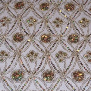 Coco Star Fabric champagne