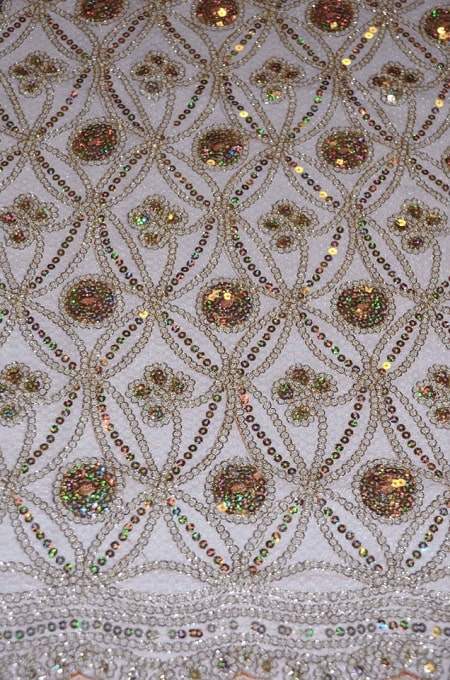 Coco Star Fabric champagne