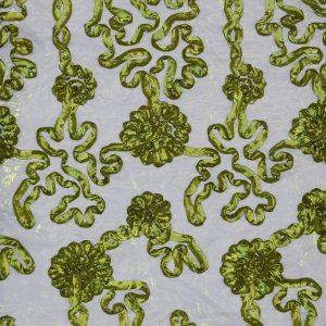 Confetti Organza dark lime