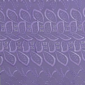 Cotton Eyelet Embroidery One Sided Scallop lavender