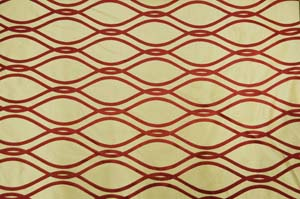 Elliptical Jacquard burgundy