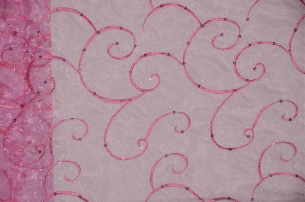 Ferial Organza Embroidery fuchsia