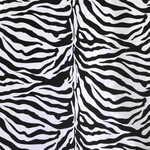 Flocking Taffeta white zebra