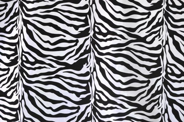 Flocking Taffeta white zebra