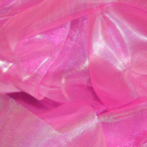Iridescent Pearl Organza candy pink