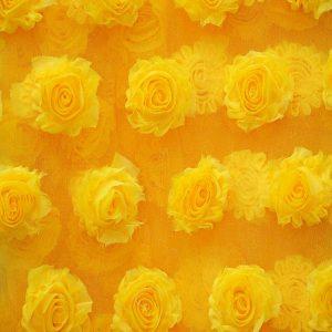 Mesh Rosette yellow