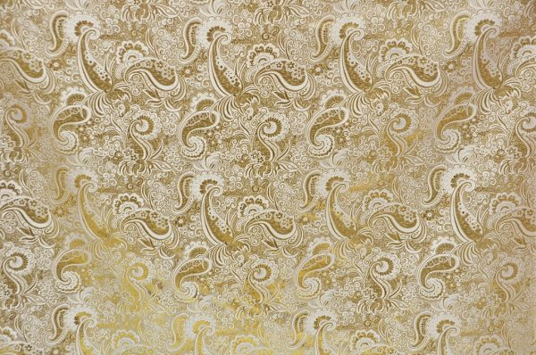Metallic Paisley gold