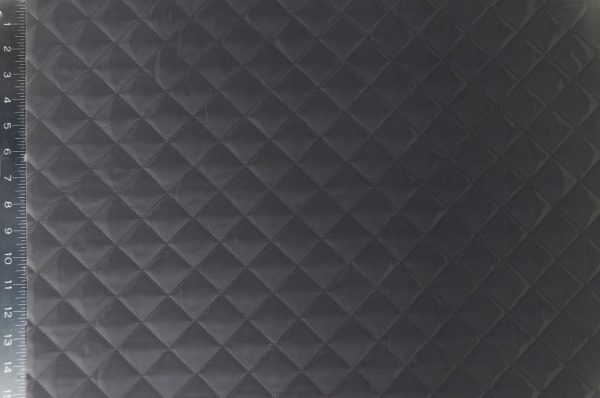 Quilted Polyester Lining Fabric black