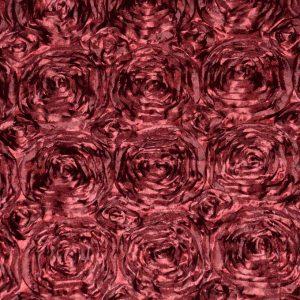 Rosette Satin burgundy