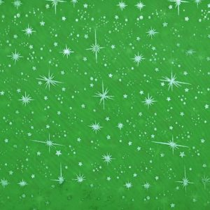 Star Foil Organza lime