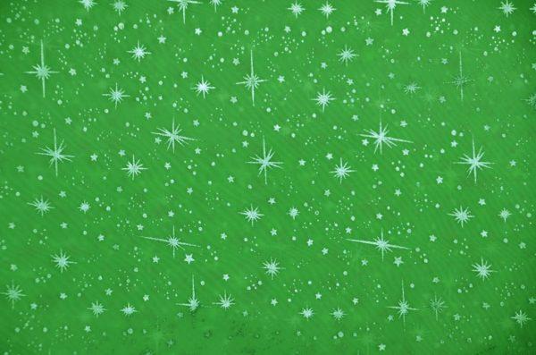 Star Foil Organza lime
